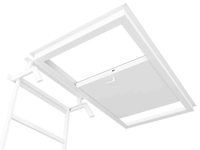 Раздвижной противопожарный люк в потолок
