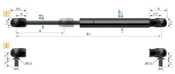 Газовые пружины, амортизаторы для люков